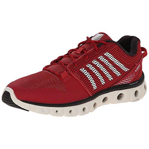 K-Swiss Men's X Lite Lightweight Training Shoe, Cardinal/Bright White/Black, 11 M ()