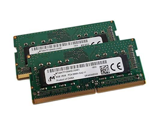 Genuine OEM Laptop Ram MTA8ATF1G64HZ-2G6E1 16GB (2x8GB) PC4-21300 DDR4-2666MHz Non-ECC Unbuffered 260-Pin 1.2V DDR4 ()