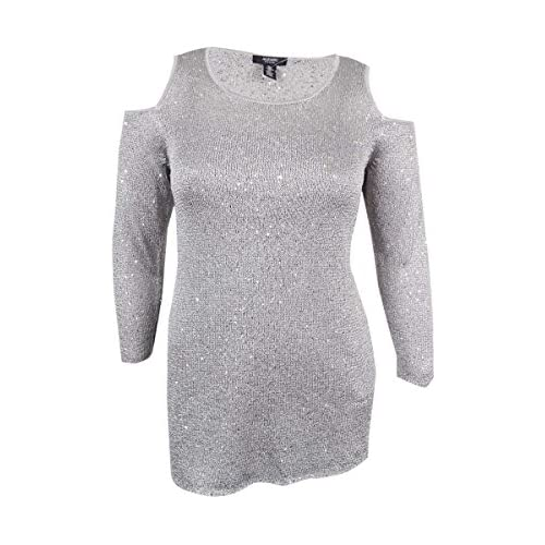 Alfani Womens Metallic Sequined Pullover Top hot sale