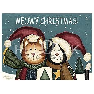 Hi-Look Microfiber Cleaning Cloth - Meowy Christmas Duo