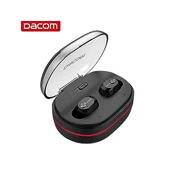 Grborn Auriculares inalámbricos Dacom K6H Pro TWS BT5.0 Auriculares estéreo Mini con micrófono de Alta definición Incorporado y Estuche de Carga portátil para iOS Android Windows (Negro): Amazon.es: Electrónica