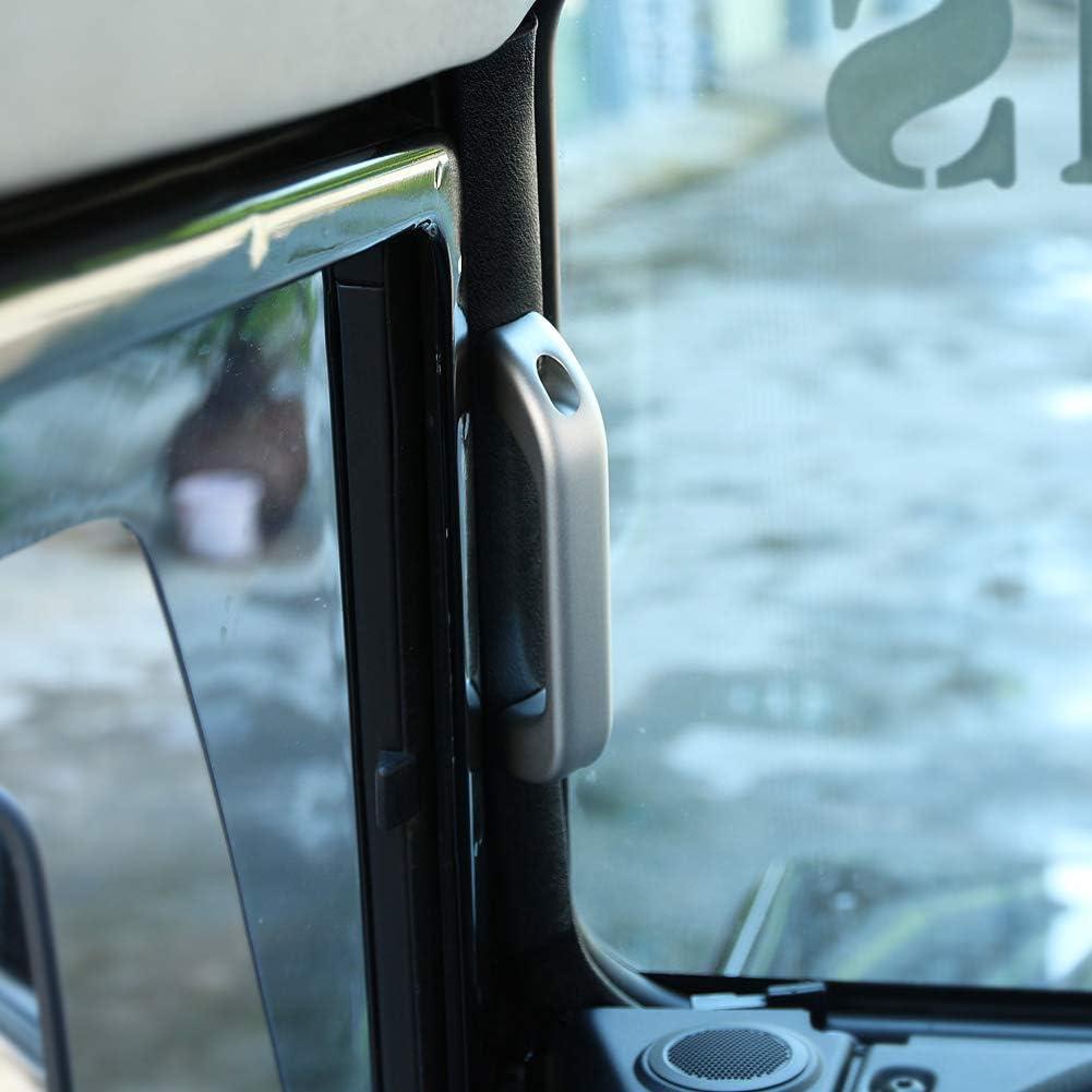 AutoT/ürgriff Catch Verkleidung Innenraum Chrom Aluminiumlegierung Deluxe Haltegriff Zierblende f/ür 110 90 2007-2016 T/ürgriffverkleidung