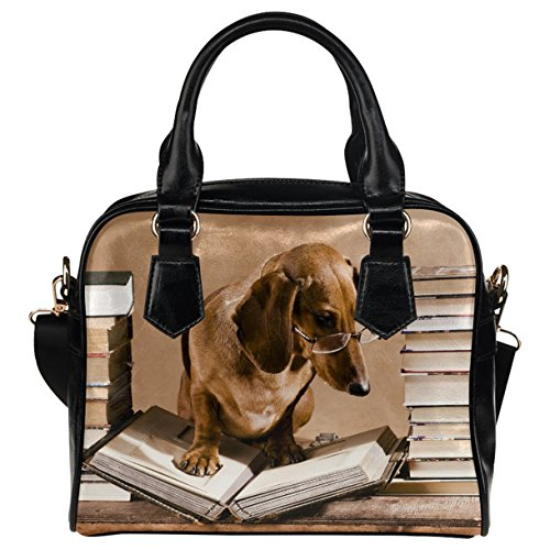 CASECOCO Dachshund Dog Bookworm Women's PU Leather, used for sale  Delivered anywhere in USA