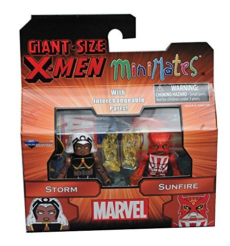 [Marvel Minimates Series 68 Giant Size X-Men Storm & Sunfire] (Storm X Men Costume Comic)