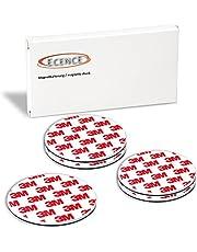 ECENCE Rookmelder magneethouder stuks zelfklevende magneethouder voor rookmelder Ø 70 mm snelle & veilige montage zonder te boren of schroeven, voor alle brand- en rookmelders