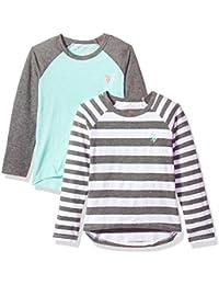 Girls' 2 Pack Long Sleeve T-Shirt