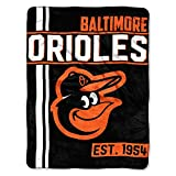 The Northwest Company MLB Baltimore Orioles Micro Raschel Throw, One Size, Multicolor