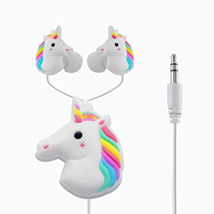 7ede9fb2d86 Amazon.com: Unicorn earbuds,Moear In-Ear 3D Cute Cartoon Animal Unicorn  Horse Headphones Stereo wtih Bobbin Winder for iOS and Android Smartphones,  ...