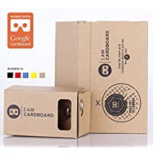 I AM CARDBOARD® 45mm Focal Length Virtual Reality Google Cardboard with Printed Instructions and Easy to Follow Numbered Tabs (WITH NFC) (Box Color)