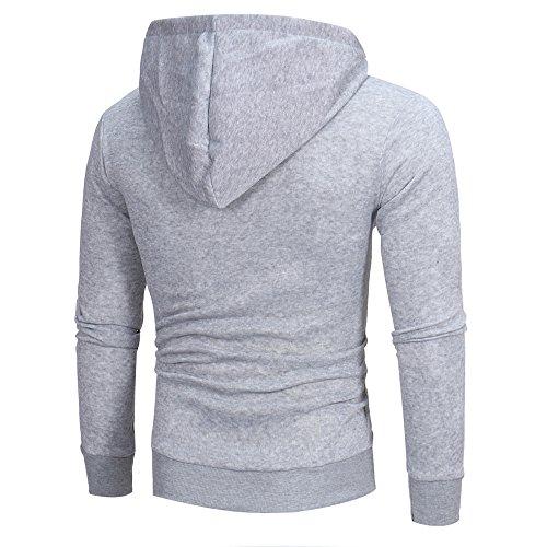 Hauts Manches Veste Capuche Hommes A Manteau Morchan gris De Outwear À Longues Sweat vYgRvdwq
