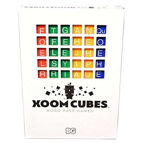 Xoom Cubes White By Baxbo Word Race Dice Game Pack A  Primary Colors  Second Edition