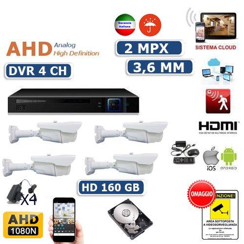 ANNKE CCTV Camera System Kit di Sorveglianza 16 Canale 3MP DVR e 16 /× 1080P Starlight DE-Noise FHD Telecamere Impermeabile Allarme E-mail TVI//AHD//CVI//CVBS//IP 5-in-1 DVR 1TB HDD
