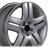 17x7 Wheel Fits Volkswagen - VW Jetta Style Silver Rim, Hollander 69751