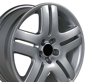 17x7 Wheel Fits Volkswagen - VW Jetta Style Silver Rim, Hollander 69751 - SET
