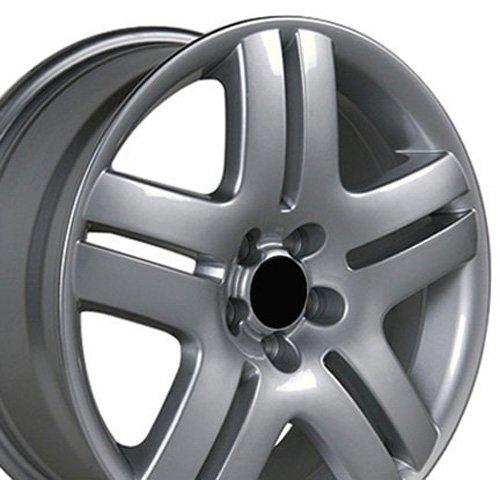 17×7 Wheel Fits VW Volkswagen – Jetta Style Silver Rim