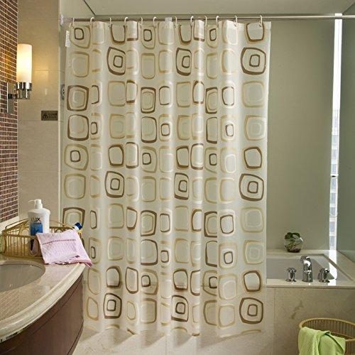 Uforme WaterProof Bath Curtain Square Pattern Home Curtains PEVA Fabric Shower Curtain Bathroom Decorative Cloth (72Wx78L) (Uniform Storm Waterproof)