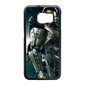 Edge caso de Halo 4 J4O61U6ZG funda Samsung Galaxy S6 funda TY6I6L negro