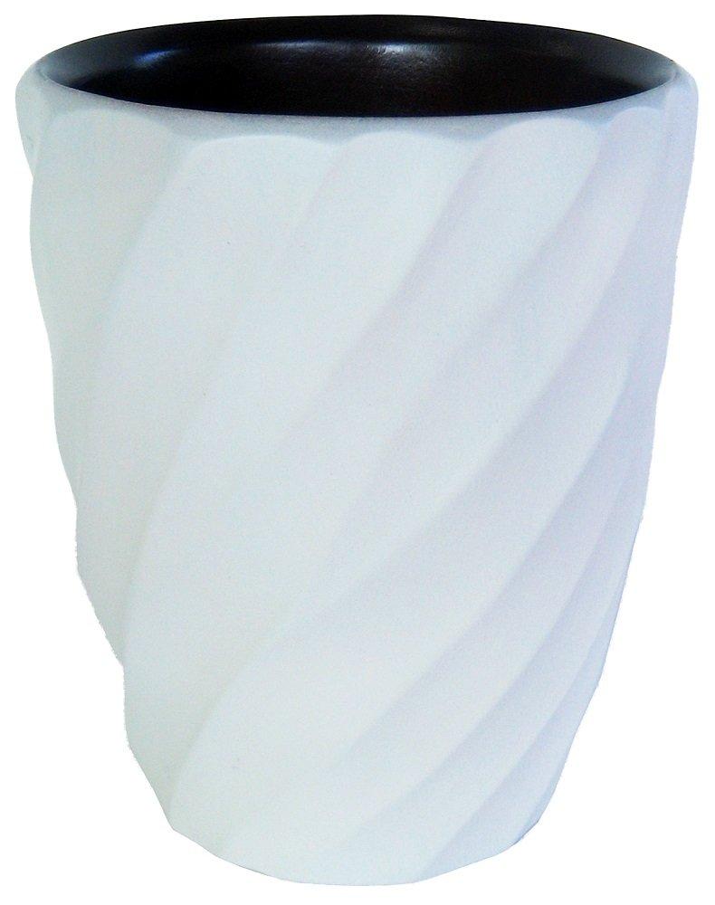 Enrico 3140MS6080 Mango Wood Spiral Utensil Vase, White