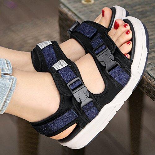 Zapatos Dama Xing Black Casuales Lin Sandalias Exterior Mujer Sneakers Amantes De Zapatos Verano blue Estudiante Sandalias De xUARqw