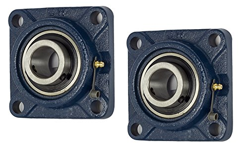 Self-Alignment 2 Piece- UCF201-8 Pillow Block Bearing 1//2 inch Size Bore Solid Base 4-Bolt Flange
