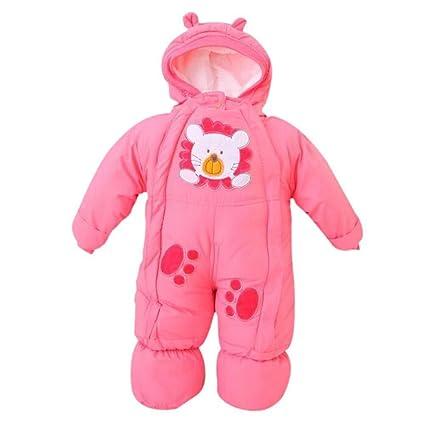 Recién nacido bebé niño Niña invierno Mono con capucha ...