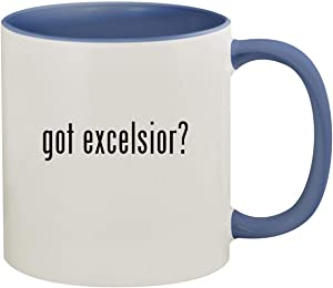 got excelsior? - 11oz Ceramic Colored Inside & Handle Coffee Mug, Cambridge Blue