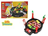 Cook and Play BBQ Toy - Super Barbeque Grill Play Set Game: Includes 4 Tongs, 1 Grill, and 14 Food Pieces