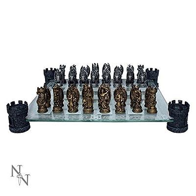 Nemesis Now - Kingdom of the Dragon Chess Set - NEM5404 - New