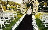 ShinyBeauty Aisle Runner-100FTX3FT-Black,Sparkle Sequin Carpet for Elegant Event Party Dinning (Black)