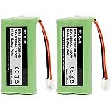 BT18433 BT28433 BT184342 BT284342 BT-1011 Replacement Battery for Vtech Cordless Phone CS6209 CS6219 CS6229 DS6151 AT&T CL80100 CL80109 Uniden DCX400 Handset (2 Pack)
