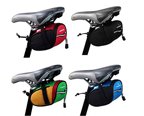 BicycleStore Waterproof Mountain Road MTB Cycling Bicycle Saddle Bag Tail Bag Bike Pouch Seat Bag Black Red Green Blue