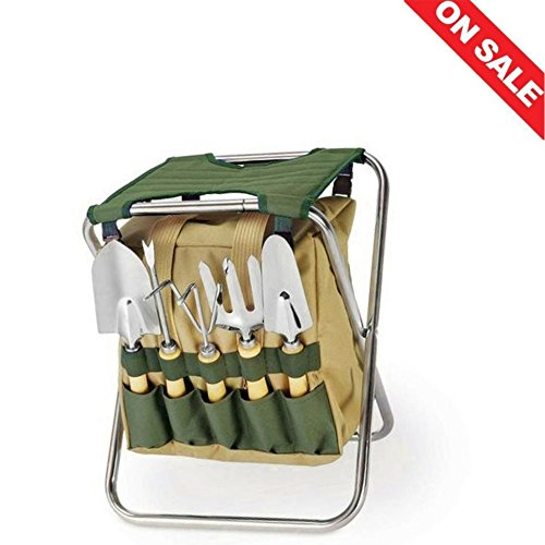 Herb Garden Tool Set Gardening Tools Kit Vegetable Bag Outdoor Organic Gardeners Organizer Flower Mini Storage Holder Home Bench & Ebook by Easy 2 Find.