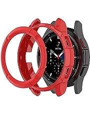 Tyogeephy Kompatybilne z Samsung Galaxy Watch 4 Classic etui 46 mm, etui ochronne z pierścieniem pierścieniowym obudowa ramka do Galaxy Watch 4 Classic 46 mm