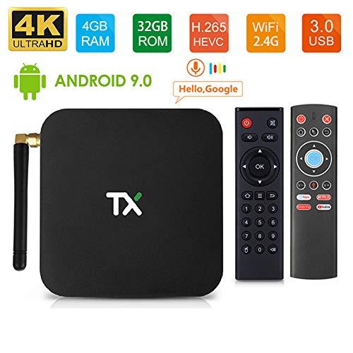 LAYZYX Smart TV Android 9.0 Box, 64 GB 2.4G&5.8G Dual Wifi Quad Core 3D 4K 60pfs Ultra HD H.265 USB3.0 Android Box…