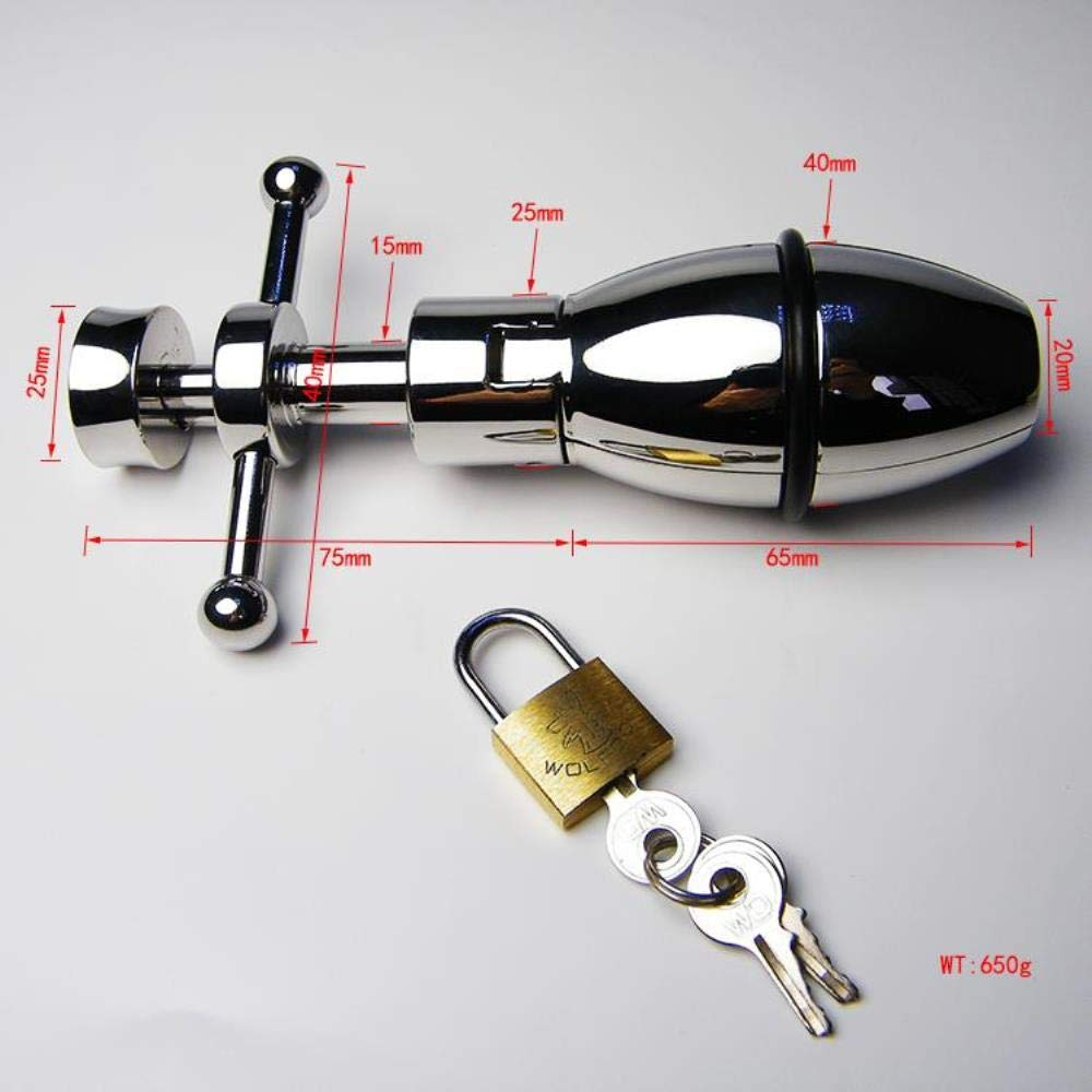 Newest Anal Sex Toys Handle Spiral Control Open and Closed High Quality Stainless Steel Backyard Toys