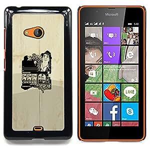 """Qstar Arte & diseño plástico duro Fundas Cover Cubre Hard Case Cover para Nokia Lumia 540 (Cartel del vintage"""")"""