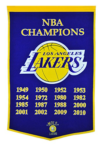 Winning Streak NBA LA Lakers Dynsaty Banner (Nba Championship Banner)