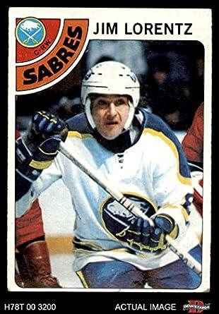 86a7854dd 1978 Topps   161 Jim Lorentz Buffalo Sabres (Hockey Card) Dean s Cards 4 -