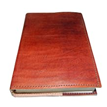 "M&N Plain Brown Vintage Leather Journal Pocket Style Re-fillable 7""x5"" Blank Pages Gift for Him Her"