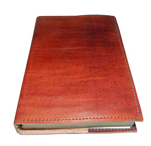 M&N Plain Brown Vintage Leather Journal Pocket Style Re-fillable 7''x5'' Blank Pages Gift for Him Her by M&N