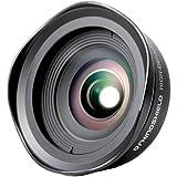 Rhino Shield iPhone Premium Kameraobjektiv, Professionelles 0.6 x 110° HD Weitwinkel anschraubbares Kameraobjektiv für iPhone 5/5s/SE/7/7 Plus/8/8 Plus und iPhone X