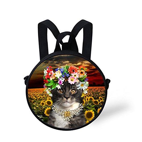 and for for Girls Cute Women Backpack Round W8cca4703i Girls Circle FashionPaint Print Backpack 4fBYq