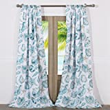 Barefoot Bungalow Cruz Coastal Curtain Panel Pair