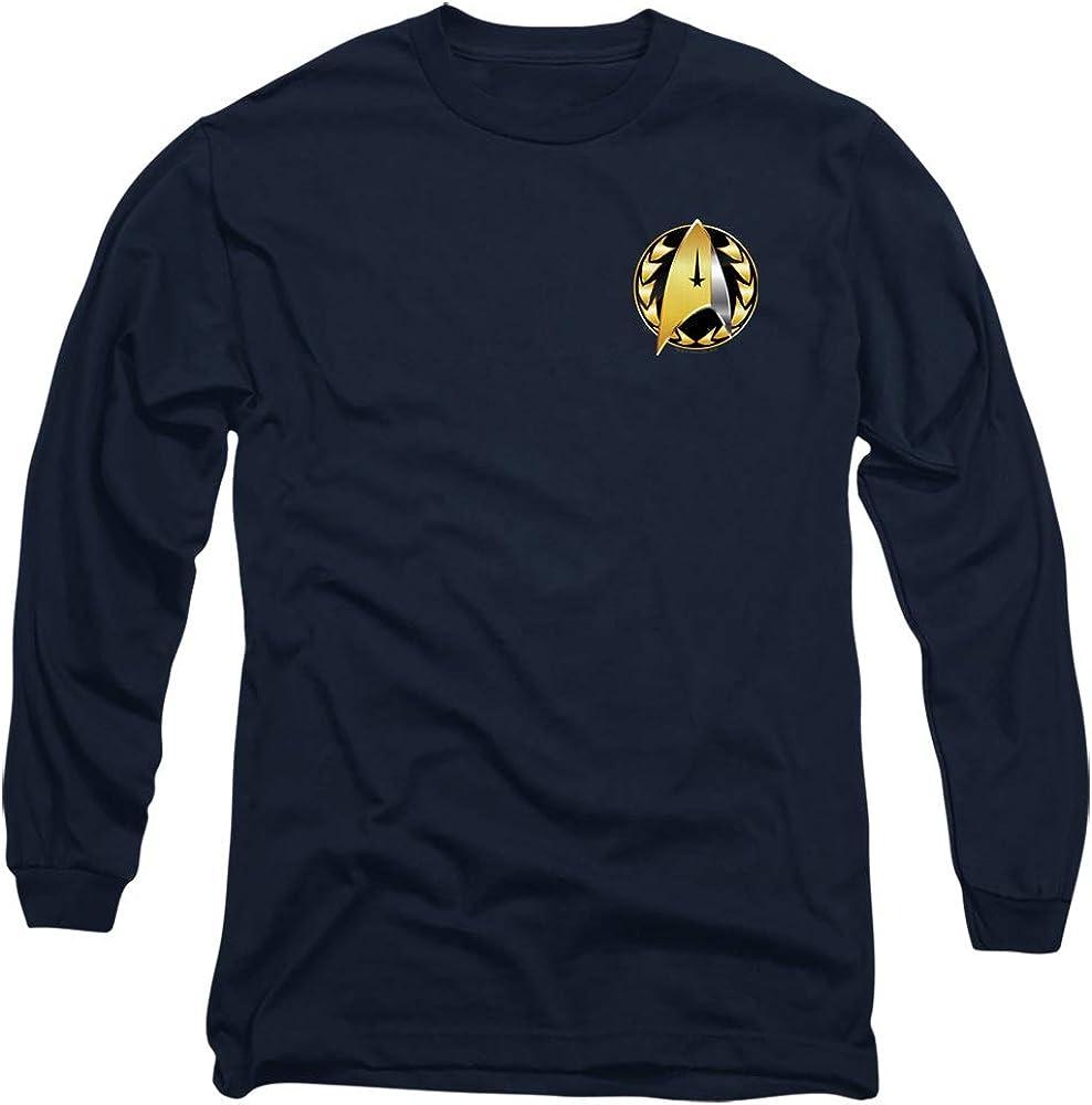A&E Designs Star Trek Long Sleeve T-Shirt Discovery Admiral Badge Navy Tee