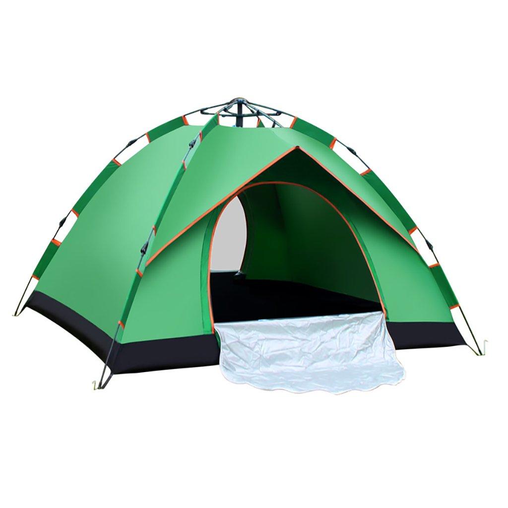 Hand-gebautes Doppelzelt im Freien 3-4 Personen Familie 2 fahren Camping-Single (Farbe : Grün, größe : 225200140cm)