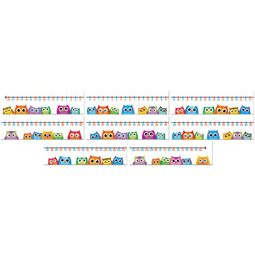 - Colorful Owls Number Line Mini Bulletin Board Set