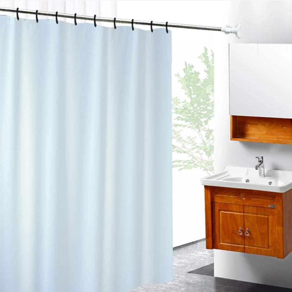 HO2NLE 24pcs Plastic Shower Curtain Rings c ring curtain hooks Bath Drape Loop Clip Glide for Bathroom Shower Window Rod black