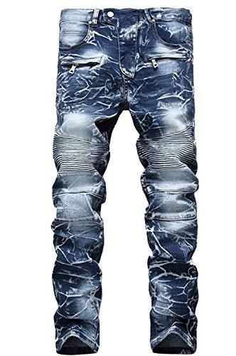 Foro Cat E Stile Ricamo Classico Con Fashion Elasticizzato Cotone Originale Jeans Da Tendenza Uomo In Ssige Blau Ragazzo Z7SRxwn