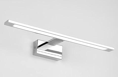 Fzw Edelstahl-LED-Spiegel-Lampe Badezimmer-Spiegel-Kabinett-Spiegel ...