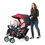 Foundations The Duo Double Stroller - Red